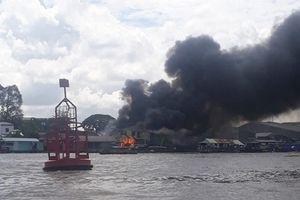 Cần Thơ: Cháy lớn gần khu chợ nổi Cái Răng