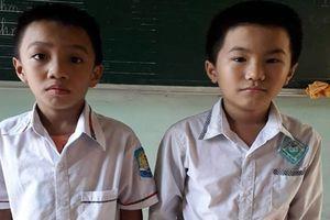 Thanh Hóa: Hai học sinh nghèo trả lại tiền cho người đánh rơi