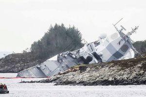 Tàu chiến Na Uy chìm sau va chạm với tàu chở dầu