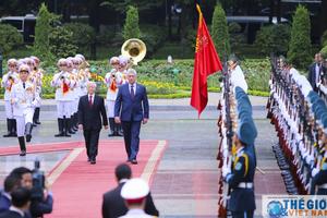 Lễ đón chính thức Chủ tịch HĐNN, HĐBT và Phu nhân Cuba