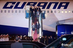 Những hình ảnh đầu tiên của Chủ tịch Cuba tại Việt Nam