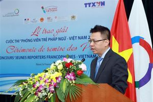 Trao giải thưởng cuộc thi 'Phóng viên trẻ Pháp ngữ - Việt Nam 2018'