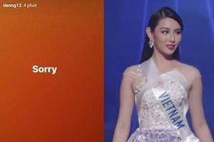 Thùy Tiên gửi lời xin lỗi khán giả khi trắng tay tại Hoa hậu Quốc tế 2018