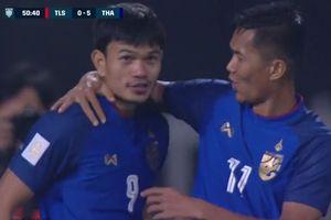 Chấn động: Tiền đạo Thái Lan ghi 6 bàn vào lưới Timor Leste