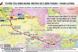 TP.HCM: Tuyến metro số 2 trễ hẹn ít nhất 6 năm