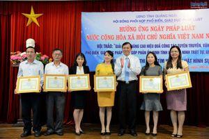 Quảng Ngãi: 35 tập thể, cá nhân đạt giải cuộc thi Tìm hiểu Bộ luật Hình sự