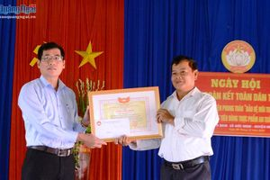'Ngày hội đại đoàn kết toàn dân tộc' ở KDC điểm huyện Mộ Đức, Nghĩa Hành