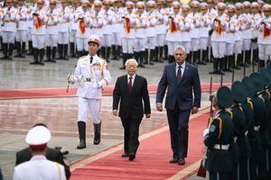 Lễ đón chính thức Chủ tịch Cuba tại Hà Nội