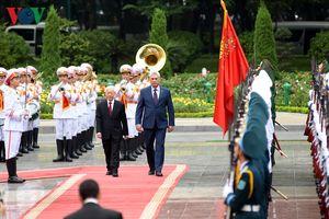 Hình ảnh lễ đón Chủ tịch Cuba Miguel Diaz Canel và Phu nhân tại Hà Nội