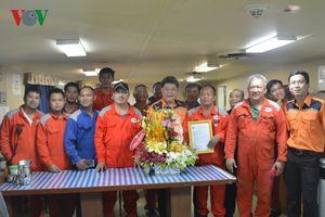 Trao thư cảm ơn tàu nước ngoài cứu 4 ngư dân Việt Nam bị nạn
