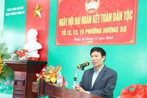 Bộ trưởng Nguyễn Ngọc Thiện dự Ngày hội Đại đoàn kết toàn dân tộc ở Huế