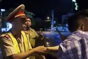Cảnh sát giao thông bị ngã khi xử lý hiện trường tai nạn ở Bình Định nói gì?
