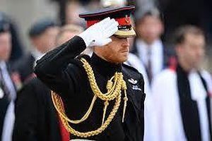 Hoàng tử Anh cắm thập giá tại Đài tưởng niệm Thế chiến I