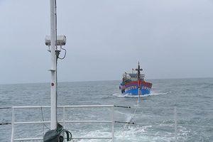 Tàu kiểm ngư cứu 19 ngư dân Quảng Bình gặp nạn