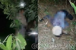 Vợ bị chém nằm chết dưới đất, chồng treo cổ trên cây