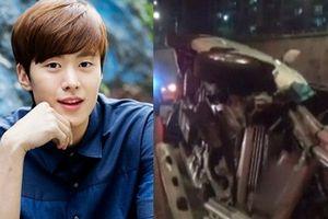Nam diễn viên 'Cô dâu thủy thần' gặp tai nạn, xe ô tô nát vụn