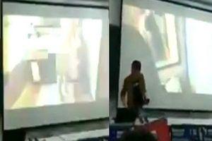 Học sinh sửng sốt khi thầy giáo chiếu nhầm phim khiêu dâm trong lớp