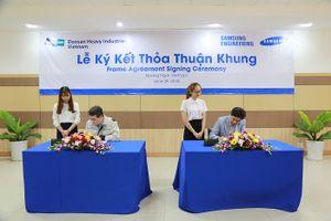 Doosan Vina sản xuất đơn hàng Samsung Engineering đầu tiên