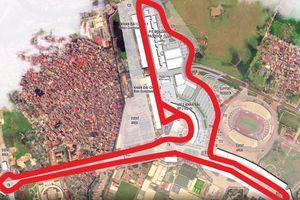 Toàn cảnh đường đua F1 tương lai tại Hà Nội nhìn từ flycam