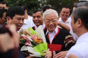 Chùm ảnh Tổng Bí thư, Chủ tịch Nước Nguyễn Phú Trọng về với đồng bào Tây Nguyên