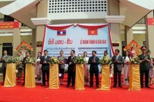Khánh thành trường học đồng chí Nguyễn Phú Trọng tặng CHDCND Lào