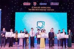 Bốn sáng kiến trong giáo dục nhận thưởng 100 triệu đồng