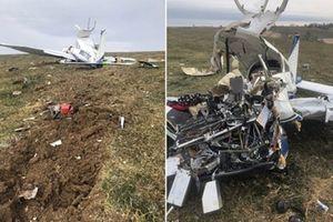Máy bay rơi vì phi công lên cơn đau tim, 4 người thiệt mạng