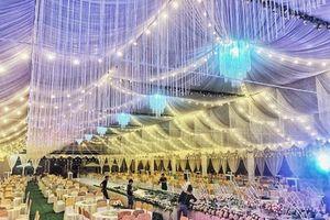 Choáng với rạp cưới 'siêu khủng' trị giá hơn 800 triệu đồng ở Vĩnh Phúc