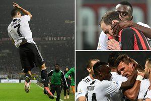 Ronaldo lập công, Juventus dễ dàng hạ Milan