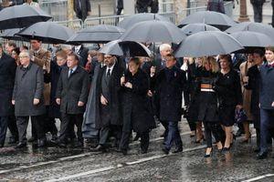 Hình ảnh hơn 70 nhà lãnh đạo thế giới tụ hội về Khải Hoàn Môn kỷ niệm 100 năm kết thúc Thế chiến I