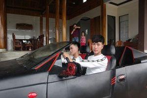 Cận cảnh 'siêu xe mui trần' độ từ xe 'đồng nát' của 2 anh em ở Hà Tĩnh