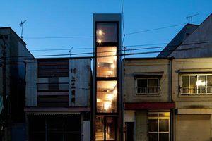 'Nhà 1,8m' với thiết kế thông thoáng ở Nhật Bản