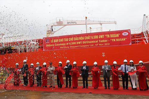 Bàn giao tàu chở dầu/hóa chất 'YN BUSAN' cho Hàn Quốc