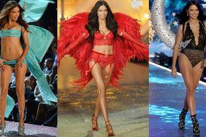 Vẻ gợi cảm của thiên thần Adriana Lima trên sàn diễn Victoria's Secret