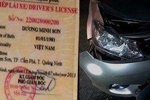 Trộm xe ô tô, lao trúng cột đèn đường