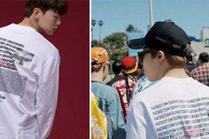 Nhà thiết kế của BTS nói gì về chiếc áo in hình bom nguyên tử?