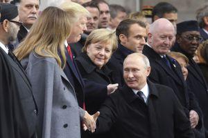 Tổng thống Trump ăn trưa, thảo luận cùng ba nhà lãnh đạo Nga, Pháp, Đức
