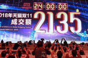 Alibaba đạt kỷ lục doanh số trong Ngày độc thân (11/11) nhưng tỷ lệ tăng trưởng sụt giảm mạnh