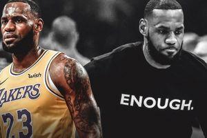 Thông điệp của dòng chữ 'Enough' mà LeBron James và các cầu thủ mặc ngày hôm nay