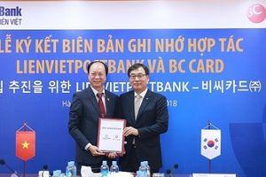 LienVietPostBank hợp tác cùng BC Card trong lĩnh vực dịch vụ thanh toán