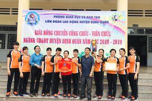 Giải bóng chuyền công chức – viên chức ngành GD-ĐT huyện Định Quán