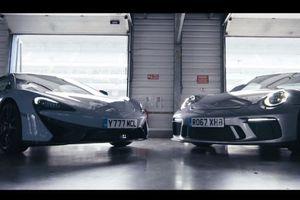 Porsche 911 GT3 và McLaren 570S Track Pack so tài trên đường đua