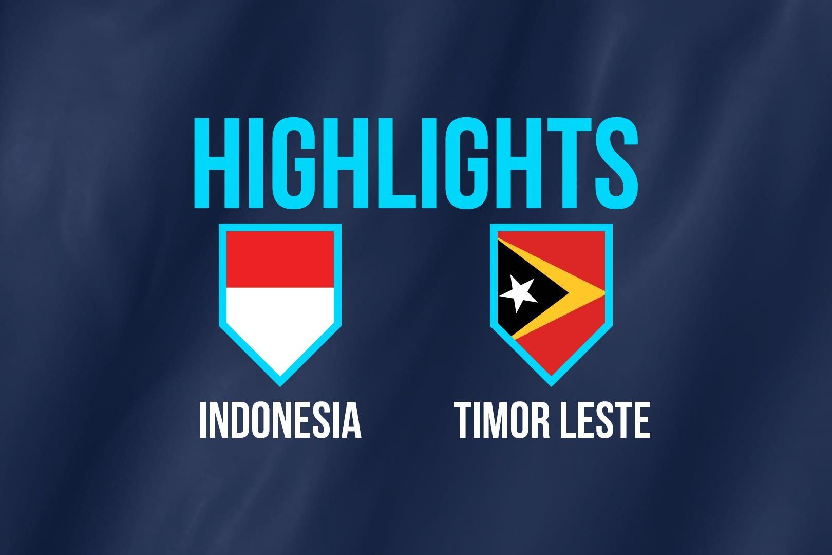 Highlights AFF Cup: ĐT Indonesia 3-1 ĐT Timor Leste