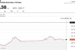Chứng khoán chiều 13/11: Cổ phiếu lớn vẫn ngập trong sắc đỏ, Midcap và Penny cố gắng thoát ly