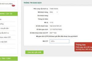Giao dịch chuyển khoản của Vietcombank bị lỗi do Viettel 'quá tải'