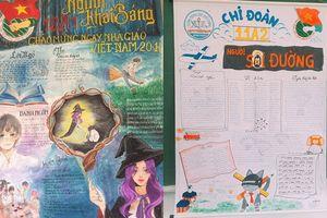 Đem truyện Harry Potter vào tạo hình cho báo tường mừng 20/11 và trào lưu khoe bích báo độc lạ