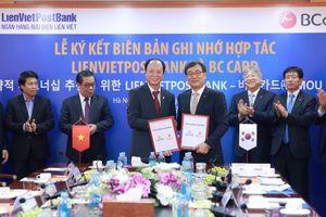 LienVietPostBank hợp tác BC Card phát triển dịch vụ thanh toán hiện đại