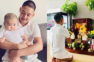 Thành Đạt 'xuống tóc', cầu bình an cho Hải Băng khi có thai 8 tuần sau 3 tháng sinh mổ