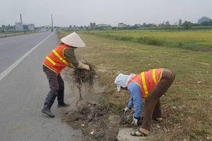Tuyến đường nghìn tỷ ở Ninh Bình sạch cỏ sau phản ánh