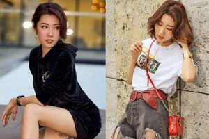 Thúy Ngân khoe gu thời trang cá tính, trẻ trung trên đường phố Sài Gòn